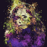 Abstract Ink Portrait  by bennyqibal