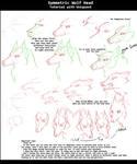Symmetric wolf head tutorial