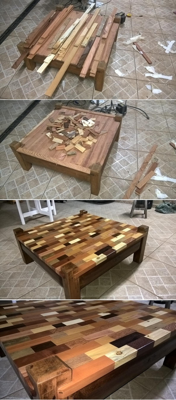Coffee Table Marquetry by JulioBN