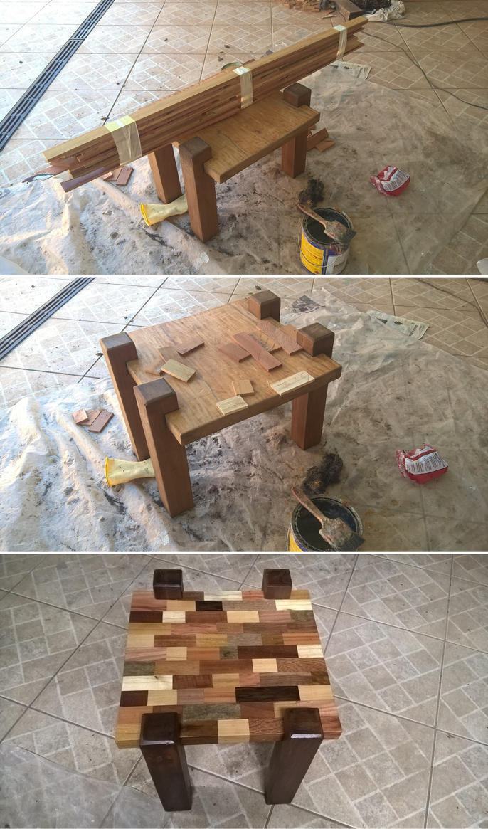 Small Coffee Table Marquetry by JulioBN