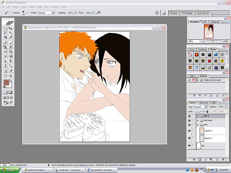 BLEACH fanart SNEAK PEEK by milkberry