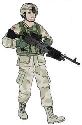 US Army Soldier with M240B