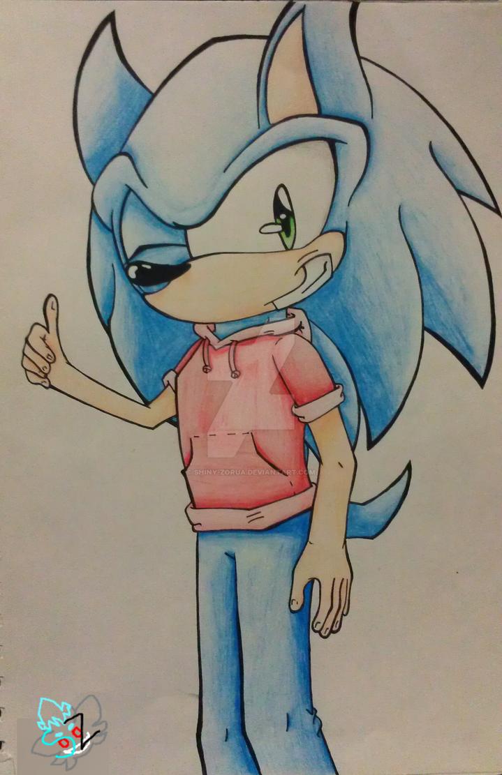 sonic the hedgehog w clothes by shiny zorua on deviantart