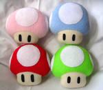 Mario Mushroom Plushies