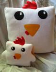 Large Cock Block Pillow