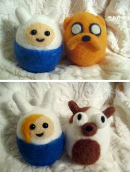 Needle felted Adventure Time on sale!