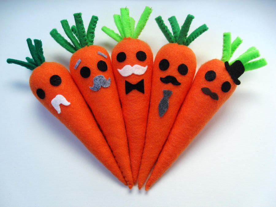 Carrot Patch - The mustache brigade V2.0 by P-isfor-Plushes