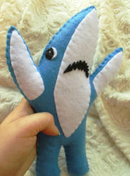 Left Shark Plushie by P-isfor-Plushes