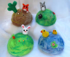 Needle Felted pin cushions 2.0