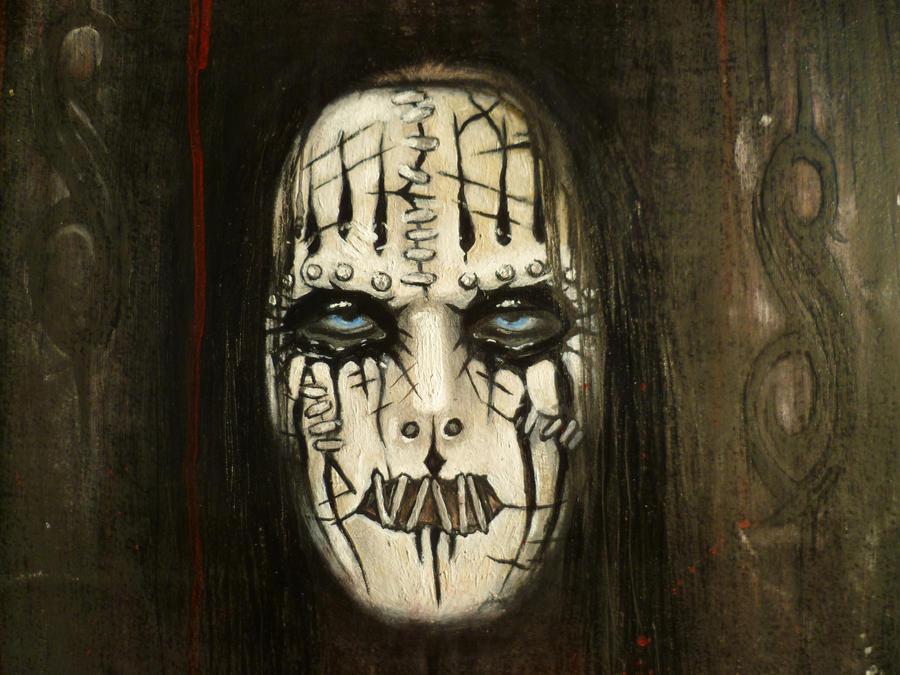 Joey Jordison Mask 2013 Joey face masked by