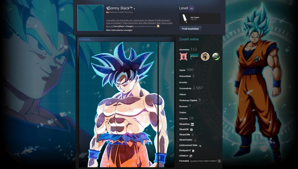 Son Goku Ultra Instinct - Steam Profile Design by SonnyBlack50 on