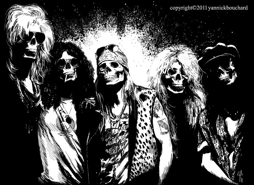 Skulls N' Roses by YannickBouchard on DeviantArt