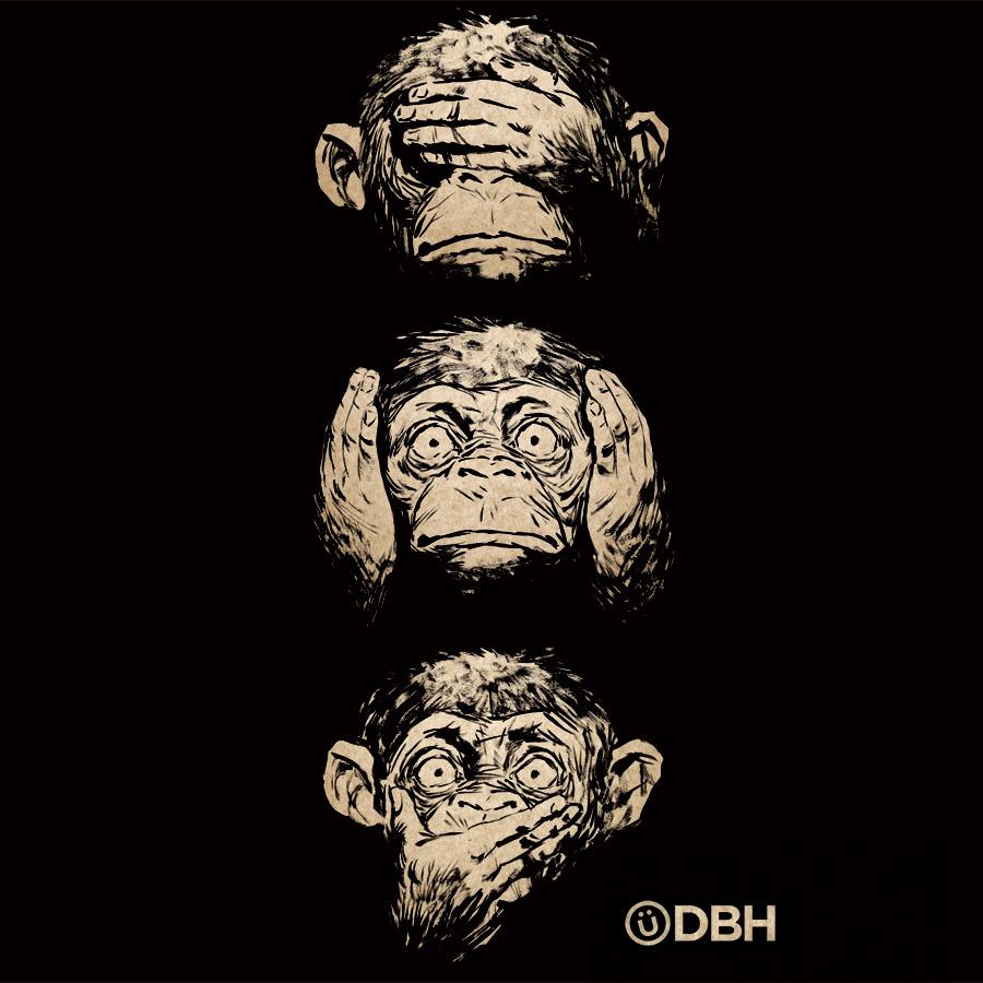 3e2e0f4e3 3 Wise Monkeys by YannickBouchard 3 Wise Monkeys by YannickBouchard