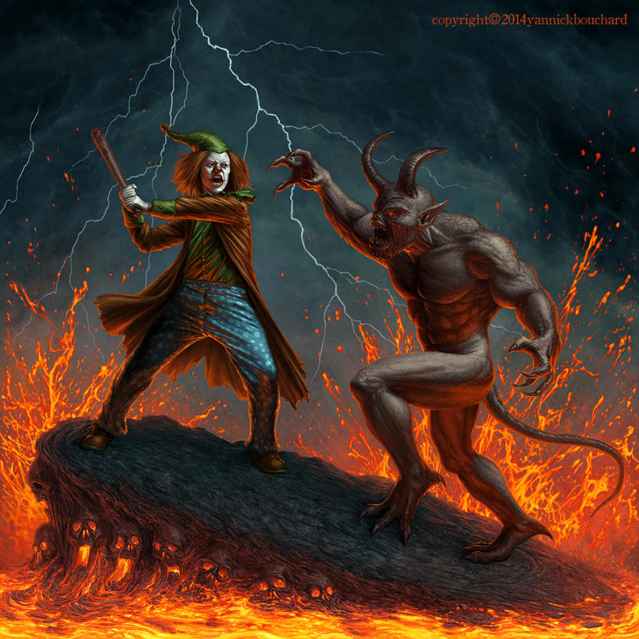 Satan stole my lunch money by YannickBouchard