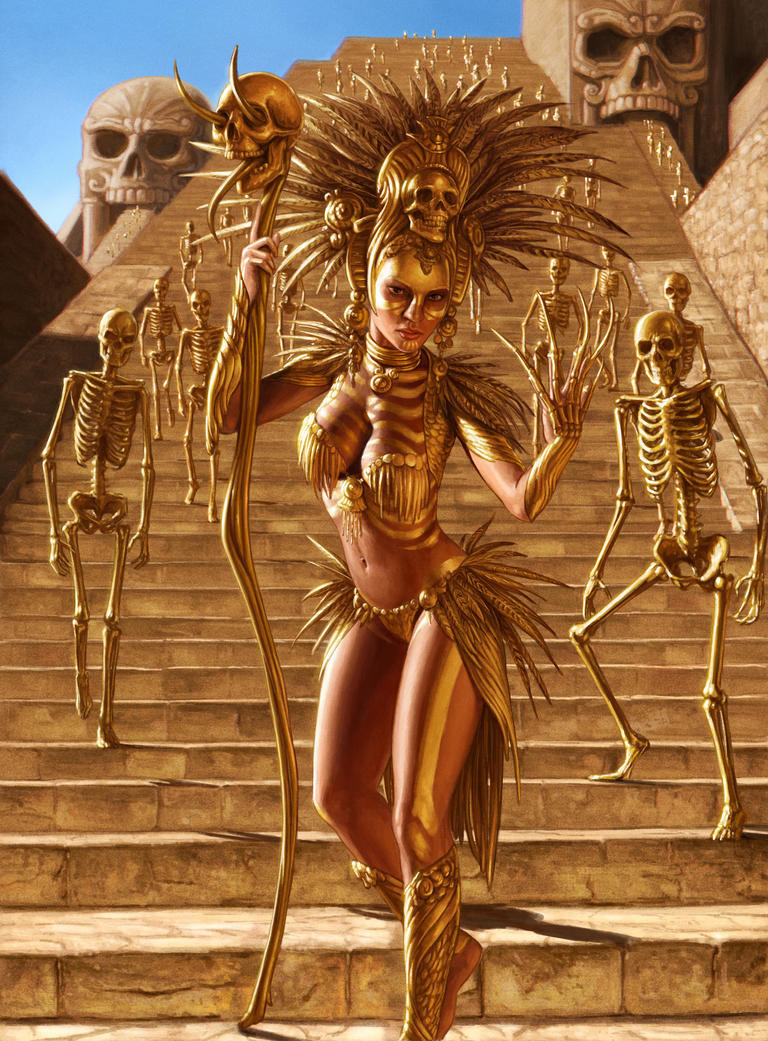 Priestess of the Gold Skeletons Army by YannickBouchard