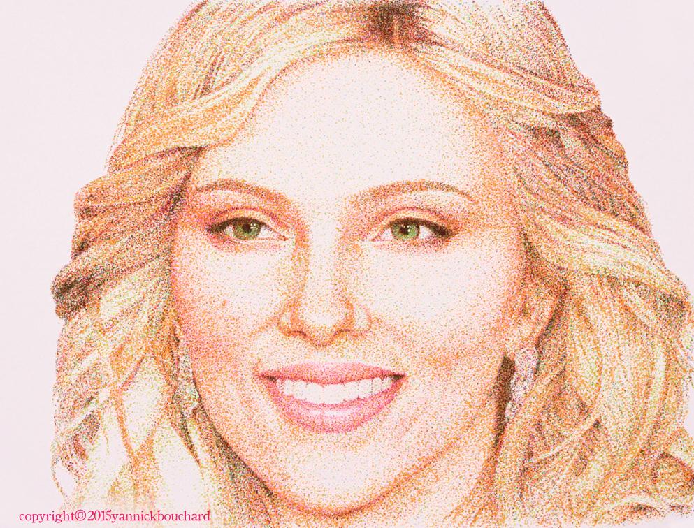 Scarlett Johansson (with highlighters) by YannickBouchard