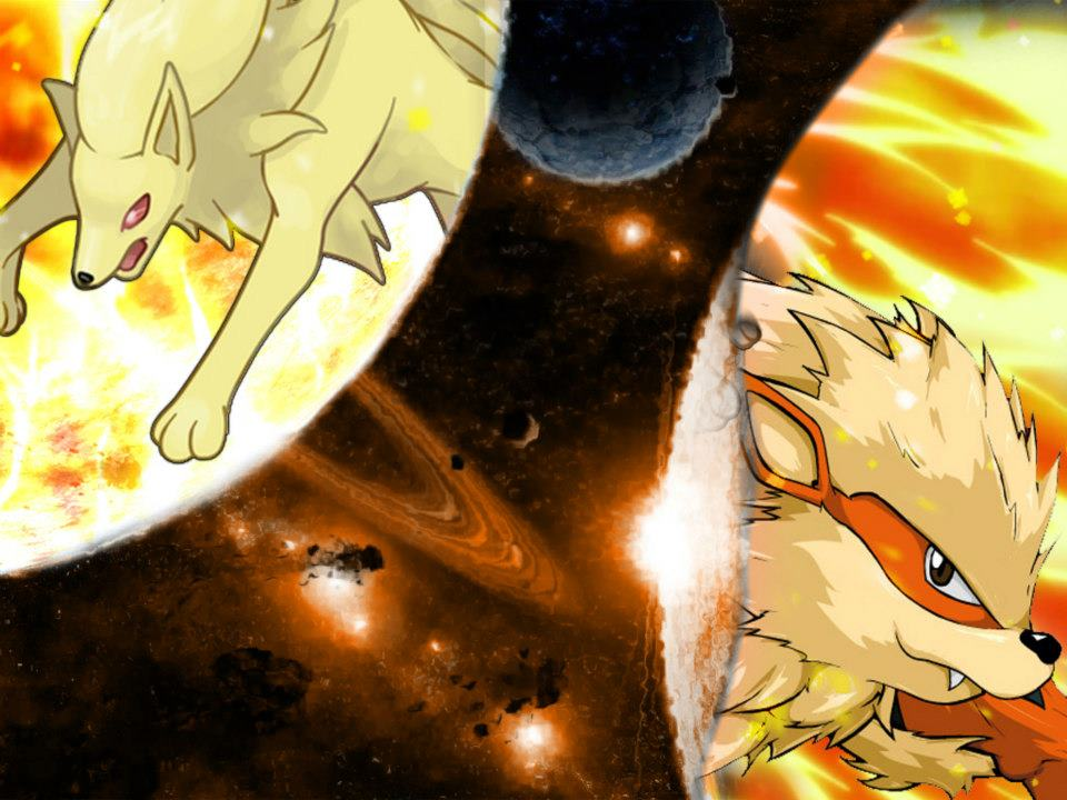 Ninetales And Arcanine By Klever20