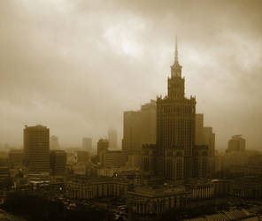 Clouds over Warsaw by satia2004