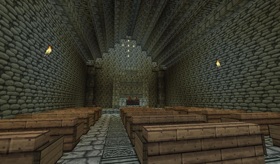 Minecraft Kirche Innen