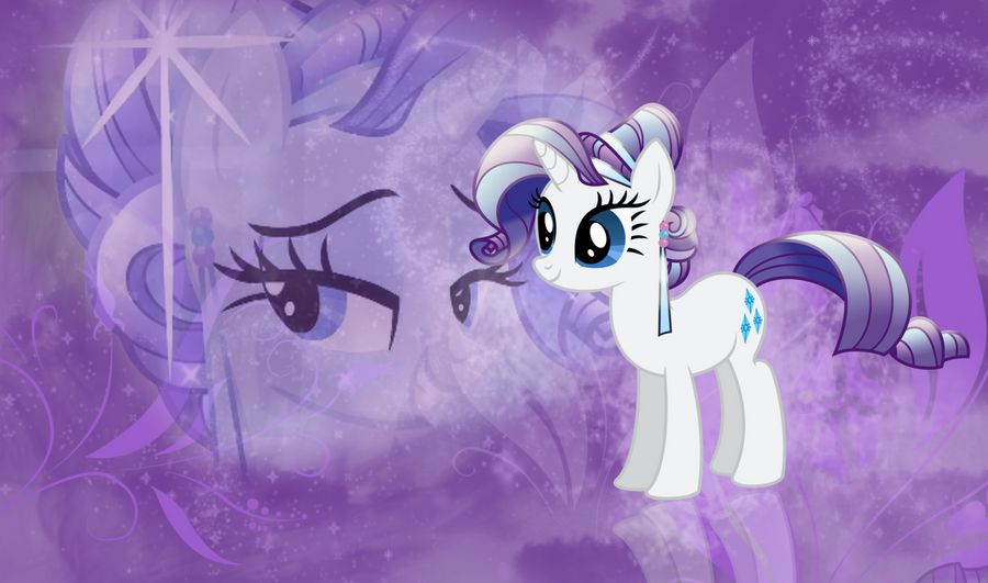 Crystal Pony Rarity Wallpaper by Vaileaa