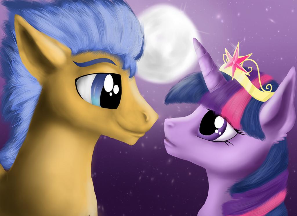 My little pony princess twilight sparkle and flash sentry kiss - photo#27