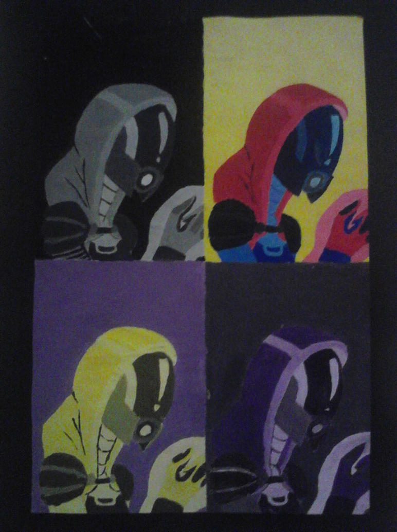 Mass Effect- Tali'Zorah Pop Art by Dattebayo681