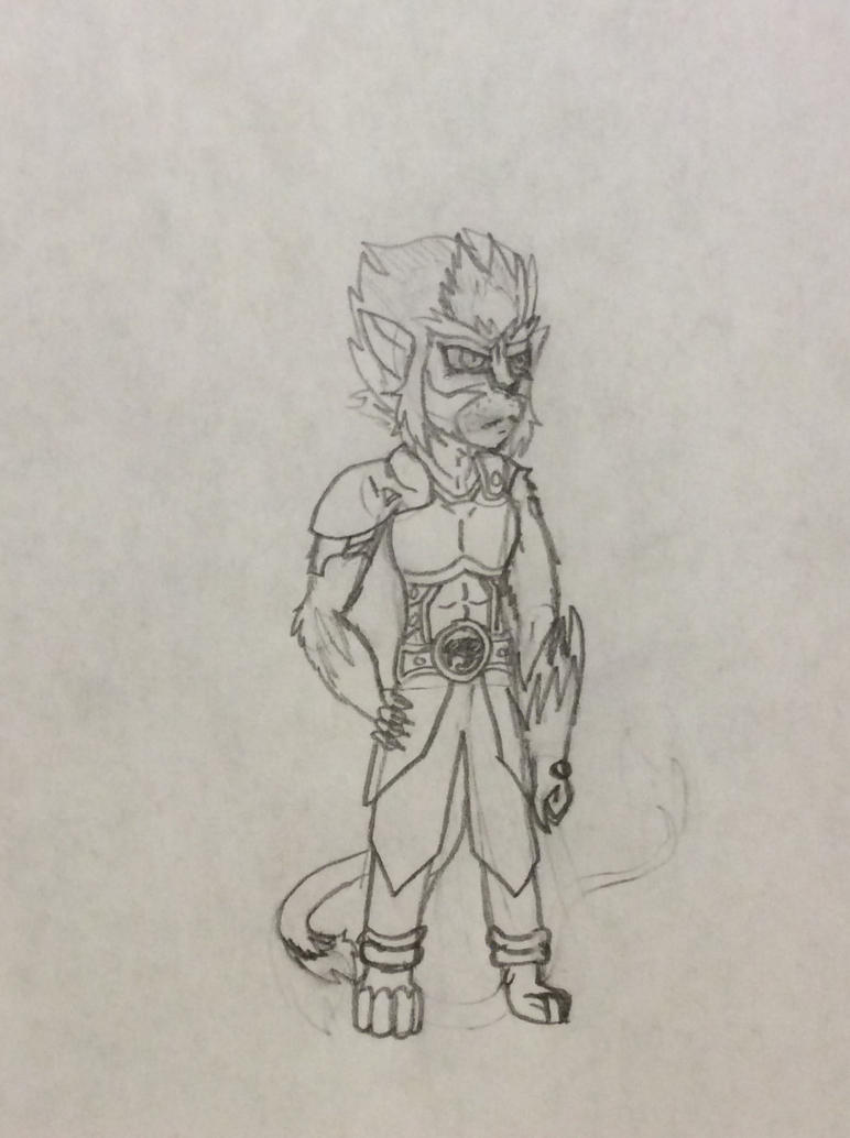 Some Loser tries to draw Lion-O by Moreabout