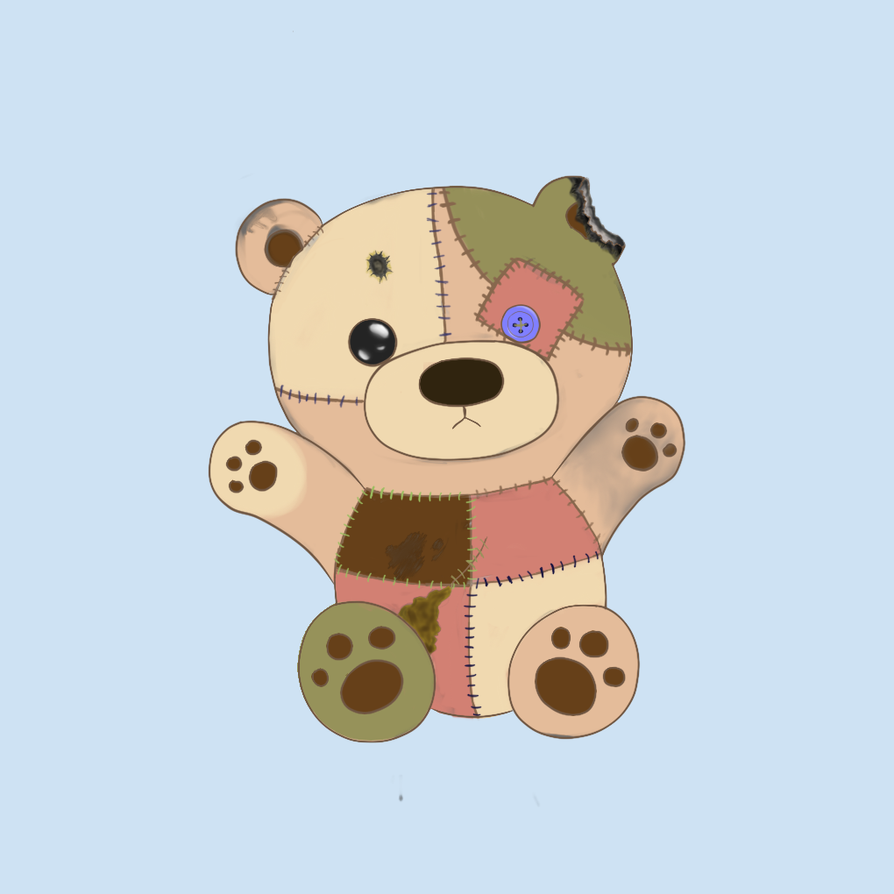 Patchwork Teddy Bear by Lacey186