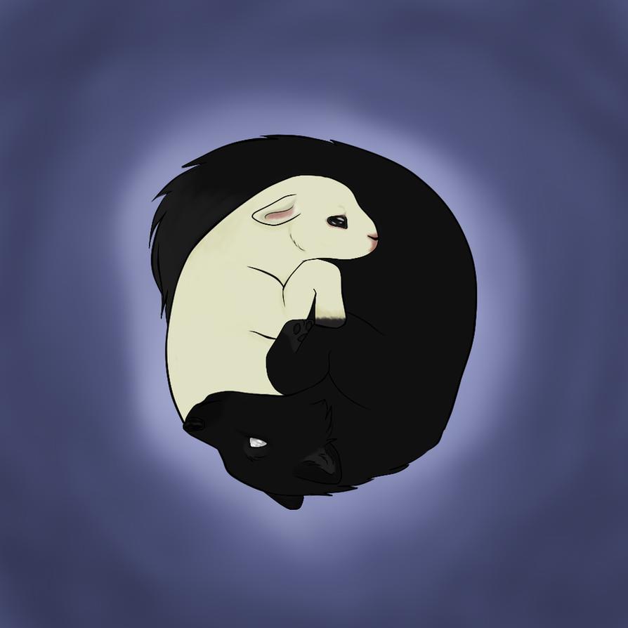 Wolf and Lamb - Yin Yang by Lacey186