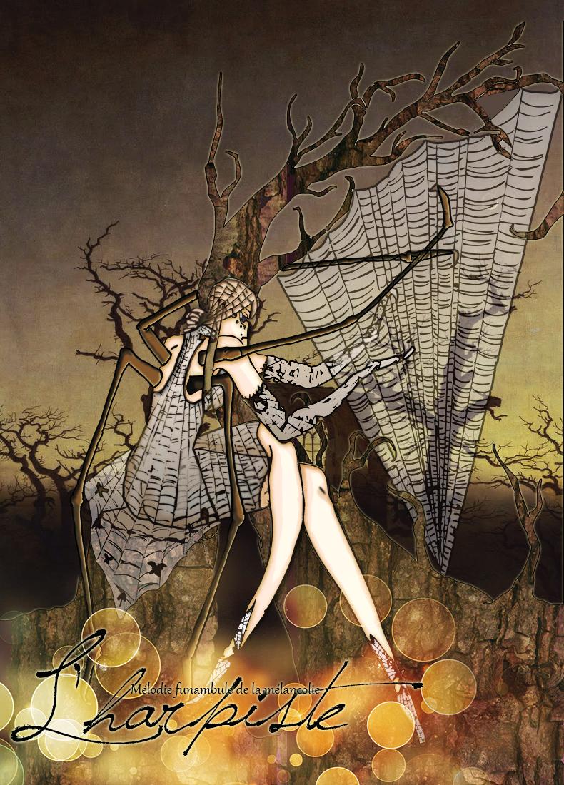 Pars delà les mots.  L__harpiste_by_yuikito-d5c64oy
