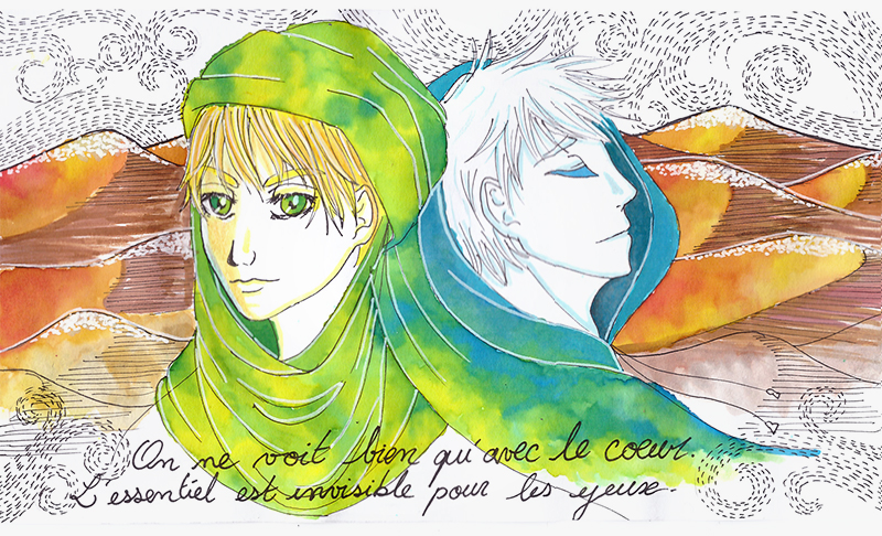 Pars delà les mots.  The_little_prince_and_jack_frost__by_yuikito-d9uwque