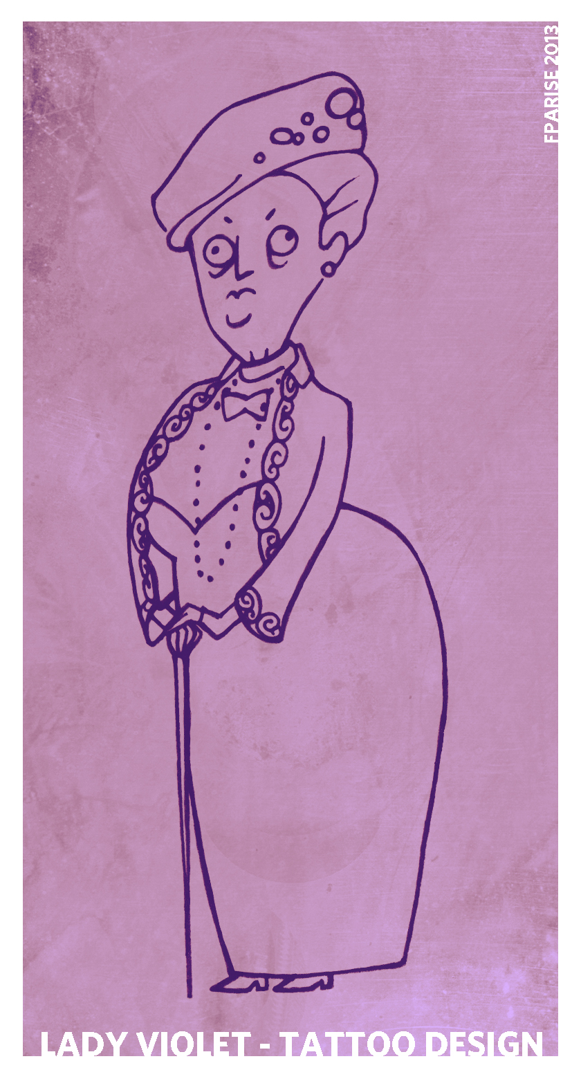 Lady Violet - tattoo design by cesca-specs
