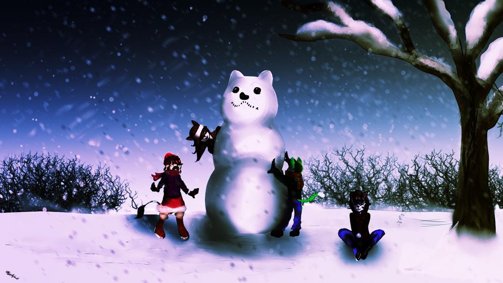 Anthro Challenge #138 The big snow fox. by noveltybest