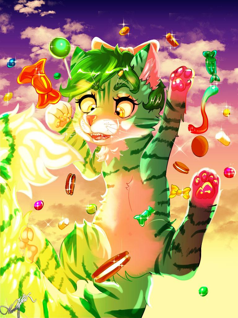 Cute Little green kitty Natalie.