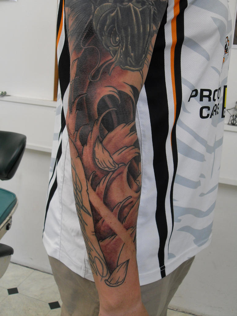 Koi fish cover up 4 by facepolution on deviantart for Koi fish cover up
