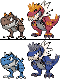 Tyrunt e Tyrantrum sprite by AmazonianFisherman on DeviantArt