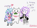 Violet Sister and ALPACA!!!  [crayon style]