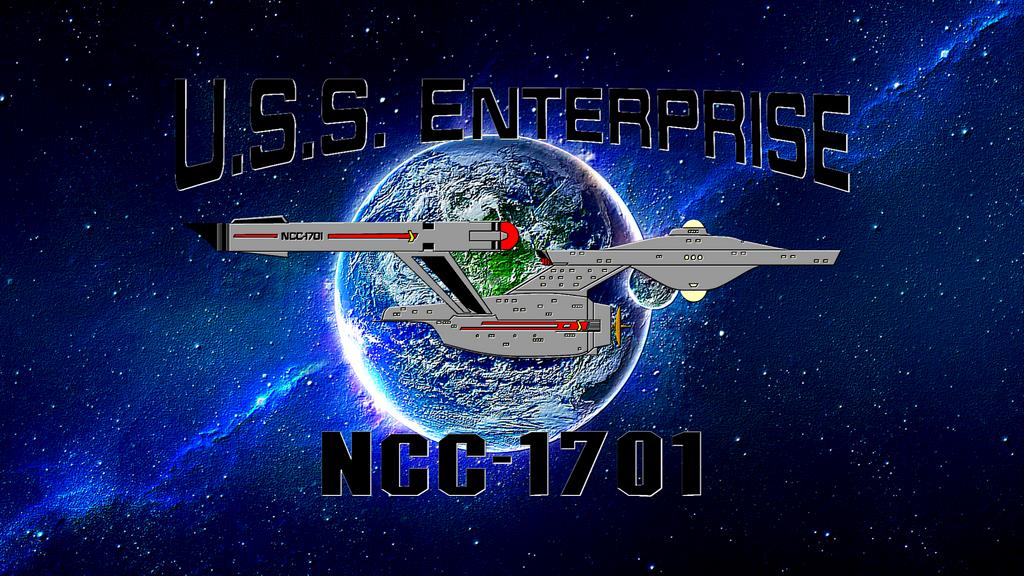 St Disc Uss Enterprise Embosed Wallpaper By Frehleyfan On