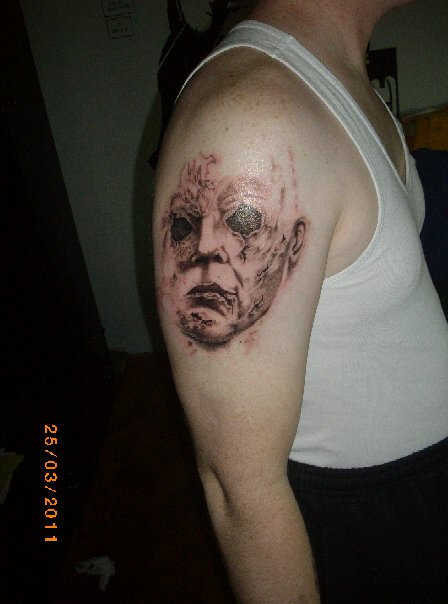 Michael myers halloween tattoo by bitterius on deviantart for Michael myers tattoo
