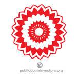 Flower design vector public domain