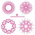 Decorative shapes public domain vector