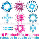 Tribal brushes for Photoshop in public domain