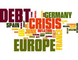 European debt word cloud
