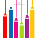 Colorful pencils vector graphics