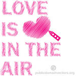 Love is in the air vector clip art