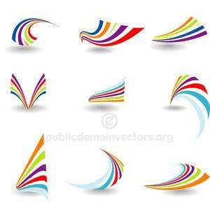 Logotype elements vector set public domain