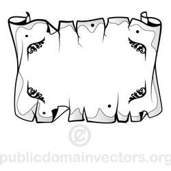 Parchment vector with public domain license