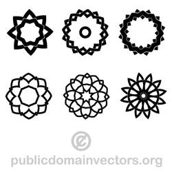 Vector pack with tribal shapes