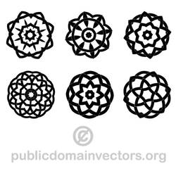 Geometric shapes vector pack