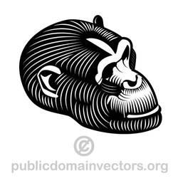 Gorilla vector image in public domain